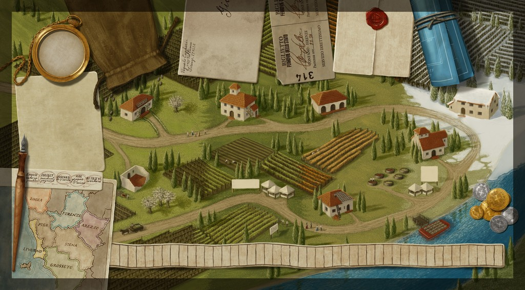 Tuscany Spielplan
